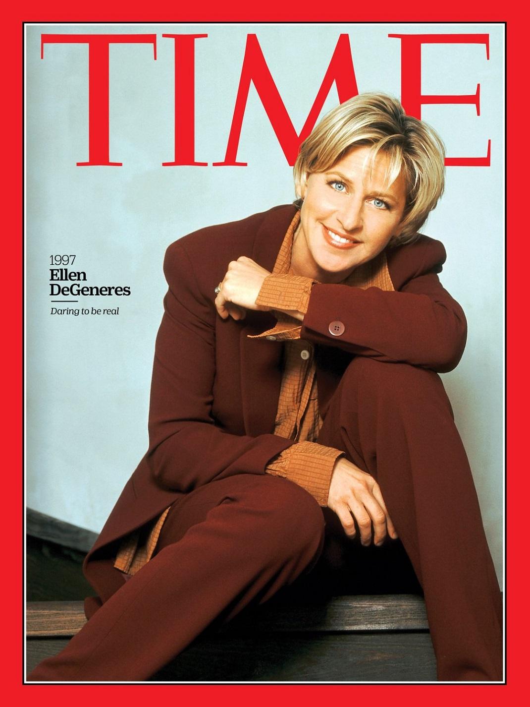 Η Έλεν ντε Τζένερις στο εξώφυλλο του TIME
