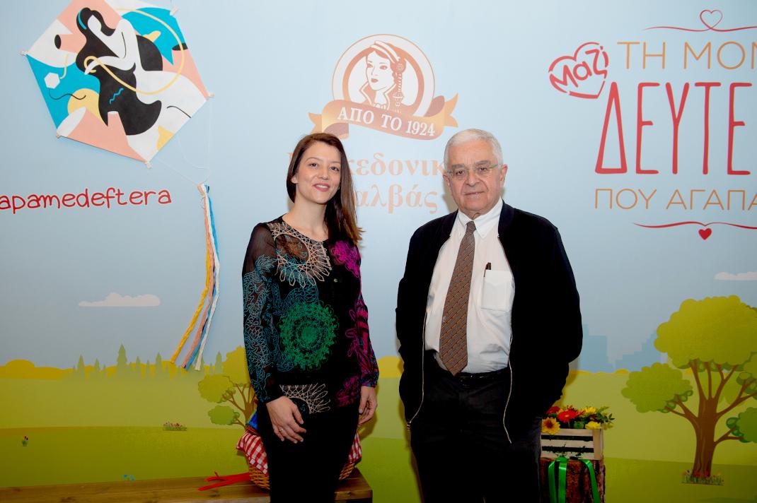 Λήδα Παπάζογλου-Βατσάκη, Marketing Manager Αφοί Χαΐτογλου και Ιωάννης Παπαδάτος, Πρόεδρος του Σωματείου ΠΝΟΗ – Φίλοι Εντατικής Θεραπείας Παιδιού