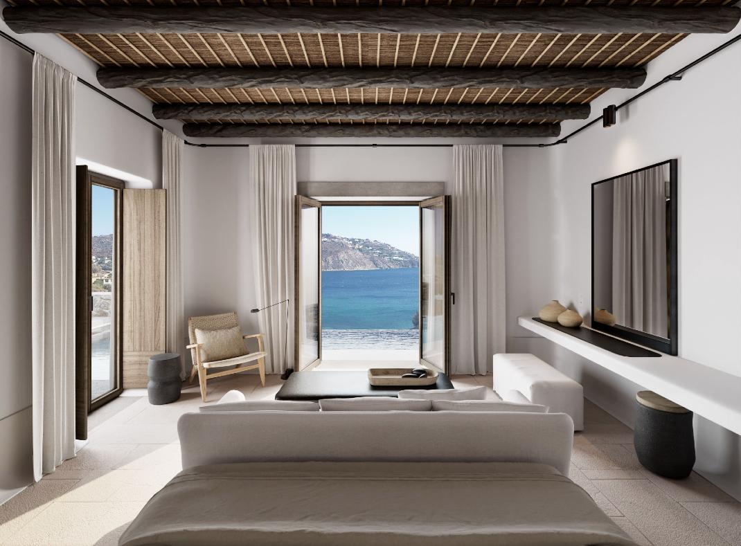 Ένα από τα δωμάτια του ξενοδοχείου Kalesma Mykonos