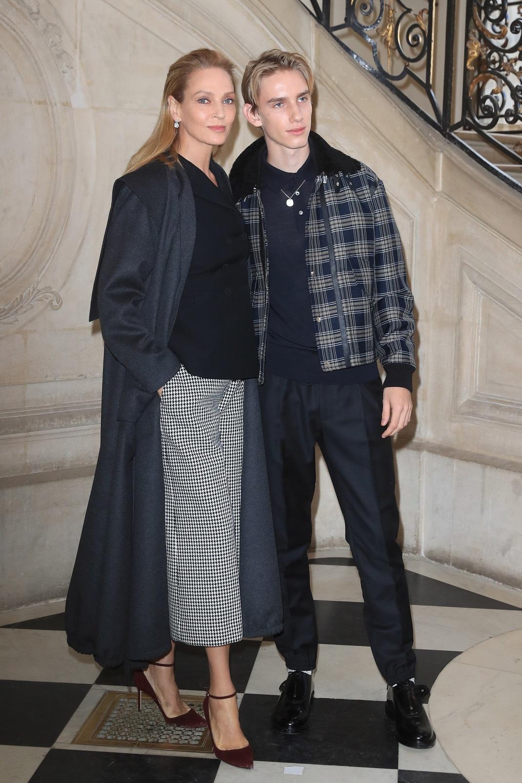 Η Ούμα Θέρμαν με τον Λεβόν Χοκ στο Παρίσι