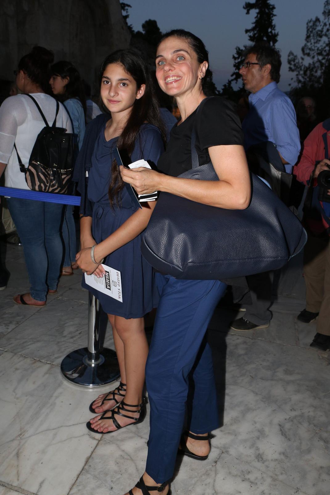 Ελίνα Ακριτίδου με την κόρη της