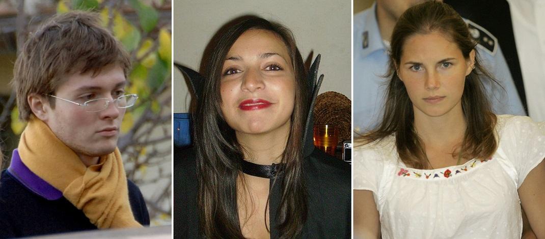 Στο κέντρο, το θύμα, Μέρεντιθ Φλέτερ. Αριστερά και δεξιά, οι κατηγορούμενοι Ραφαέλ Σολεσίτο και Αμάντα Νοξ