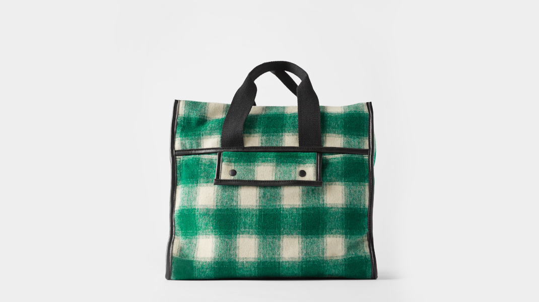 Πράσινη τσάντα Zara