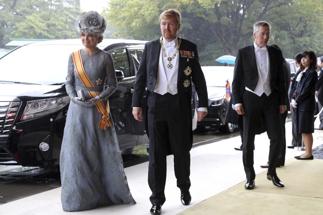 Η βασίλισσα Μάξιμα της Ολλανδίας στην ενθρόνιση του Ναρουχίτο