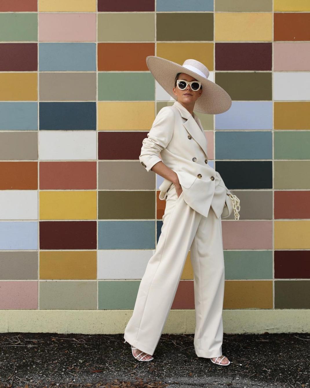 blaireadiebee λευκό oversized κοστούμι