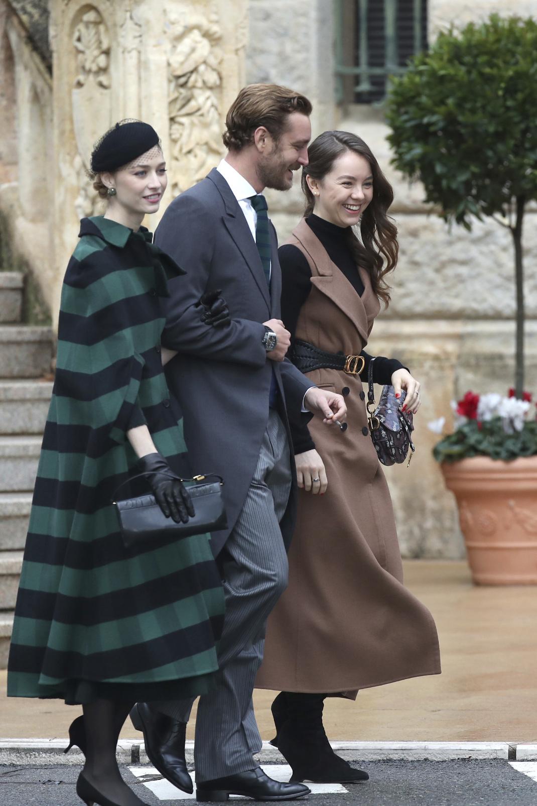 Ο Πιέρ Κασιράγκι με την Μπεατρίς Μπορομέο και την Αλεξάνδρα του Ανόβερο