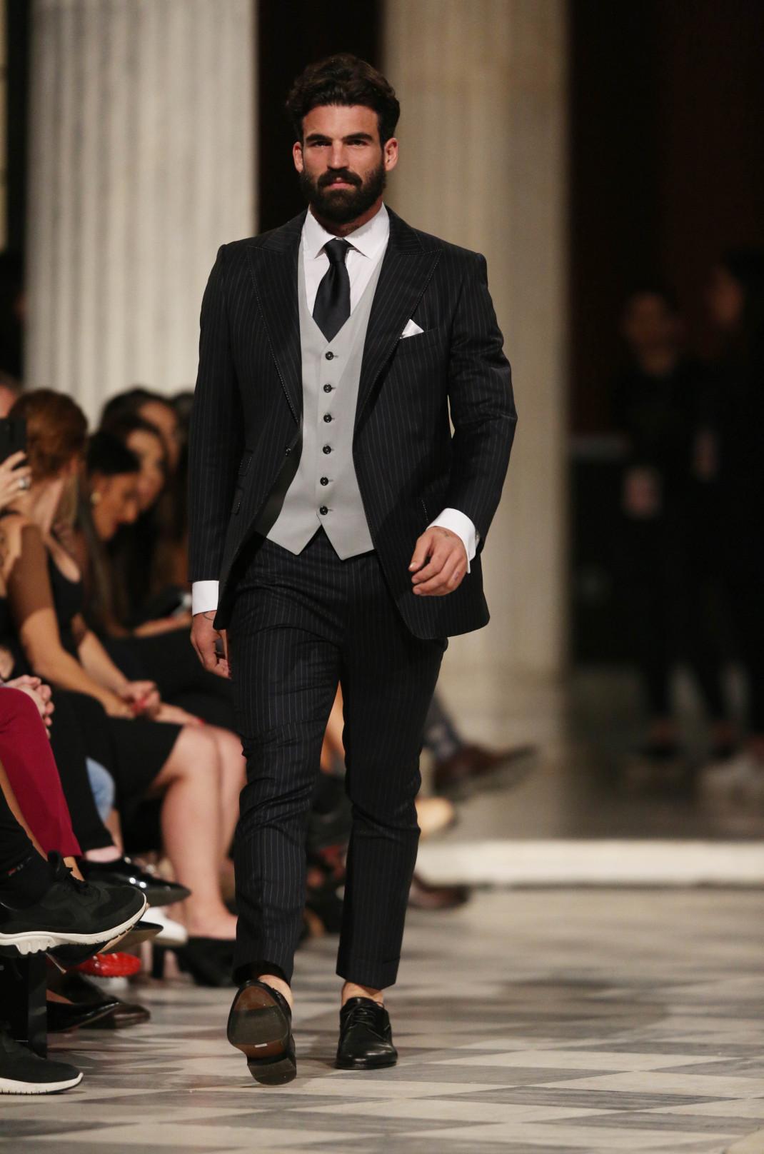 Ο Δημήτρης Αλεξάνδρου στο fashion show του Γιαννέτου