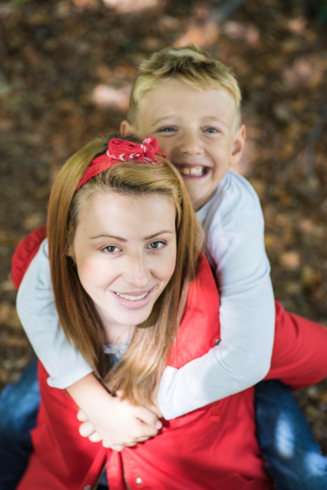 Δώρα Δημάκη με τον γιο της
