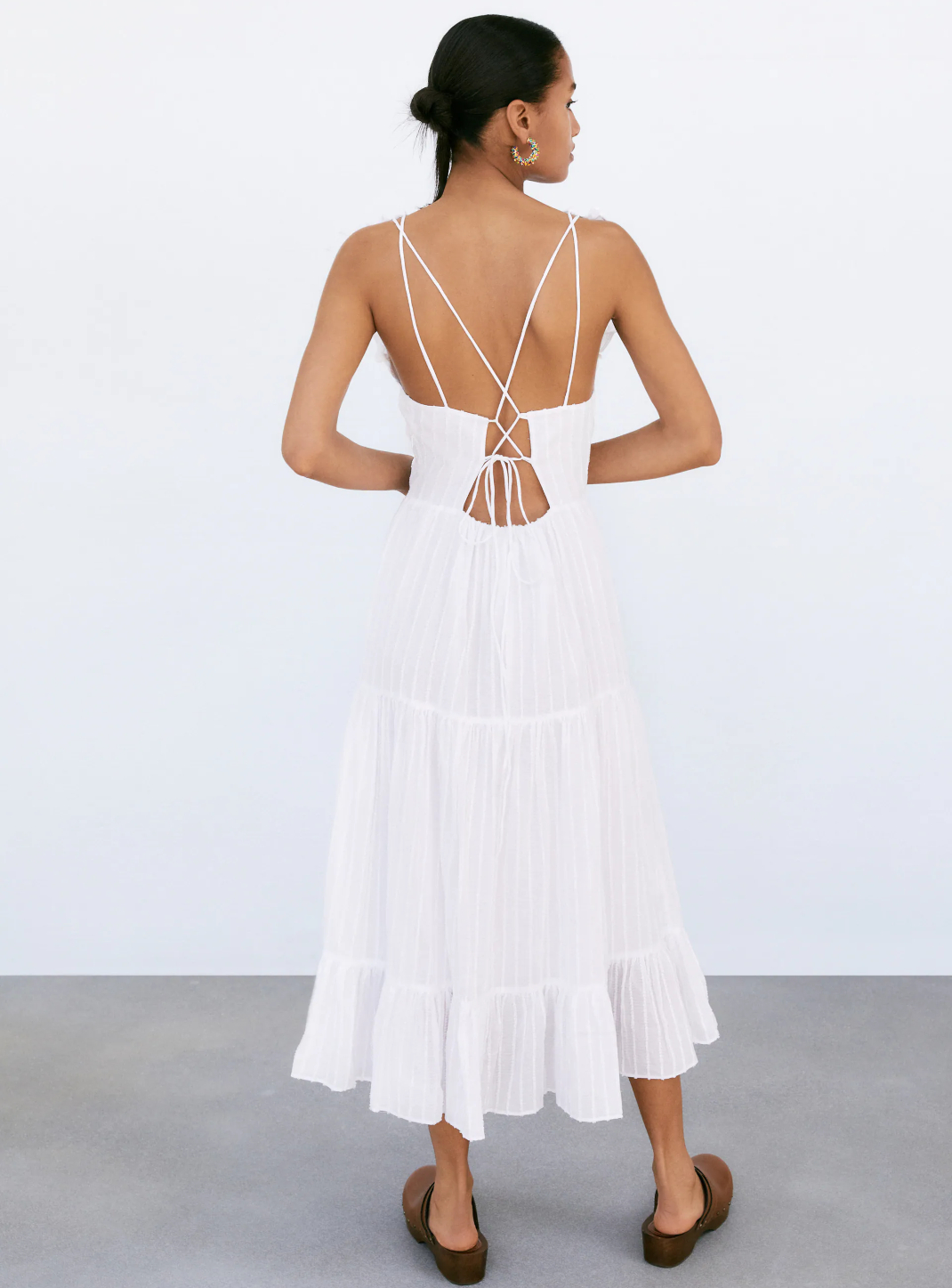 λευκό φόρεμα Zara