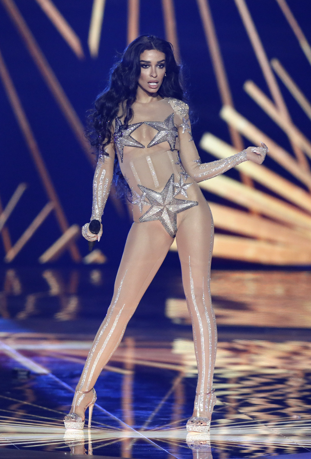 Η Ελένη Φουρέιρα στην σκηνή της Eurovision