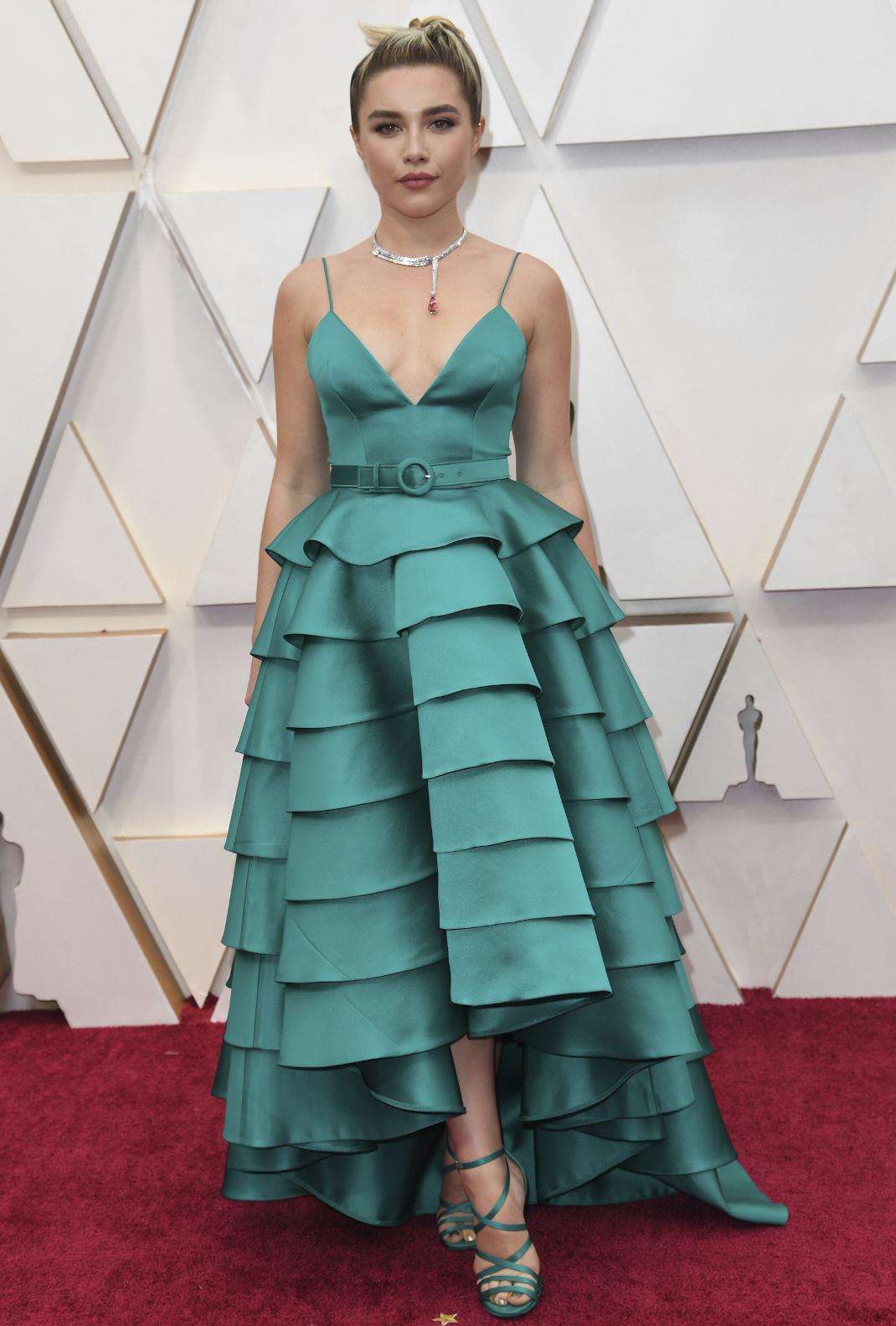 Η Florence Pugh με custom Louis Vuitton στα Όσκαρ 2020