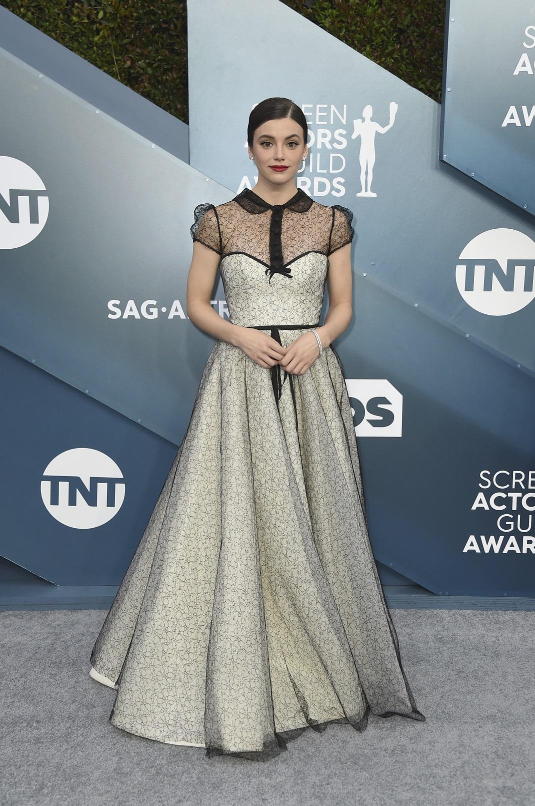 H Francesca Reale με στα SAG Awards με εντυπωσιακό φόρεμα του Βασίλη Ζούλια