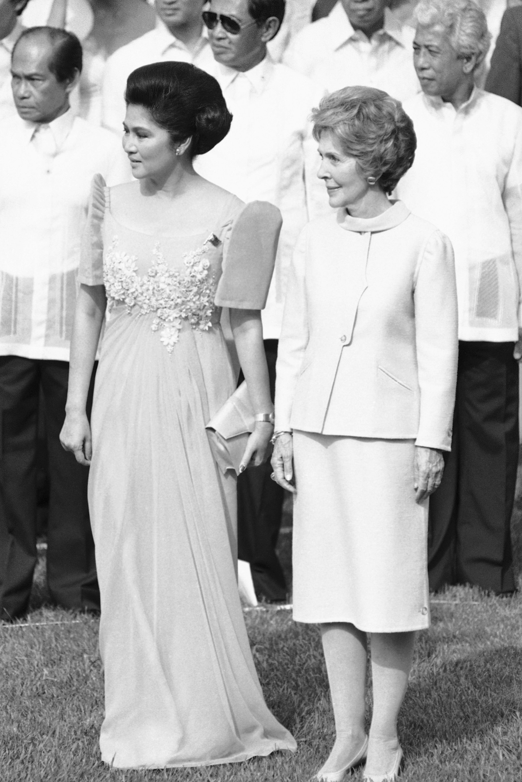 Η Ιμέλντα Μάρκος με τη Νάνσυ Ρέγκαν
