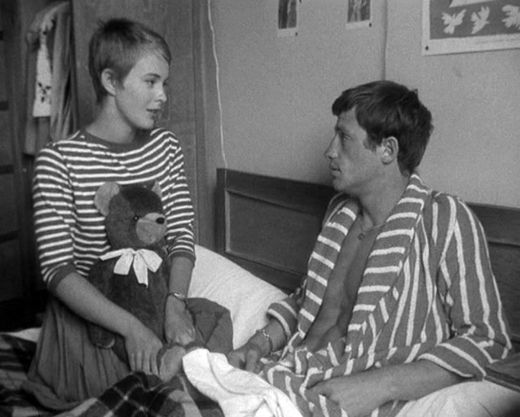 Jean-Paul Belmondo και Jean Seberg στο À bout de souffle (1960)