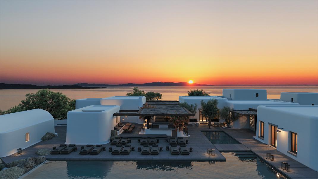 Ηλιοβασίλεμα στο Kalesma Mykonos