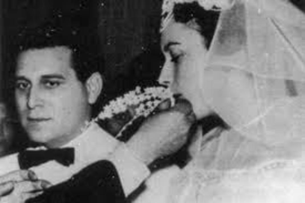 Σπύρος Καλογήρου, Ευαγγελία Σαμιωτάκη γάμος
