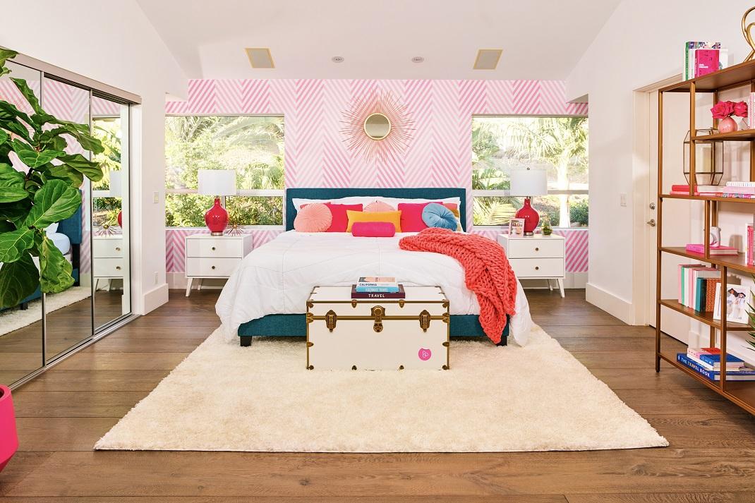 Το υπνοδωμάτιο στο σπίτι της Barbie στο Μαλιμπού