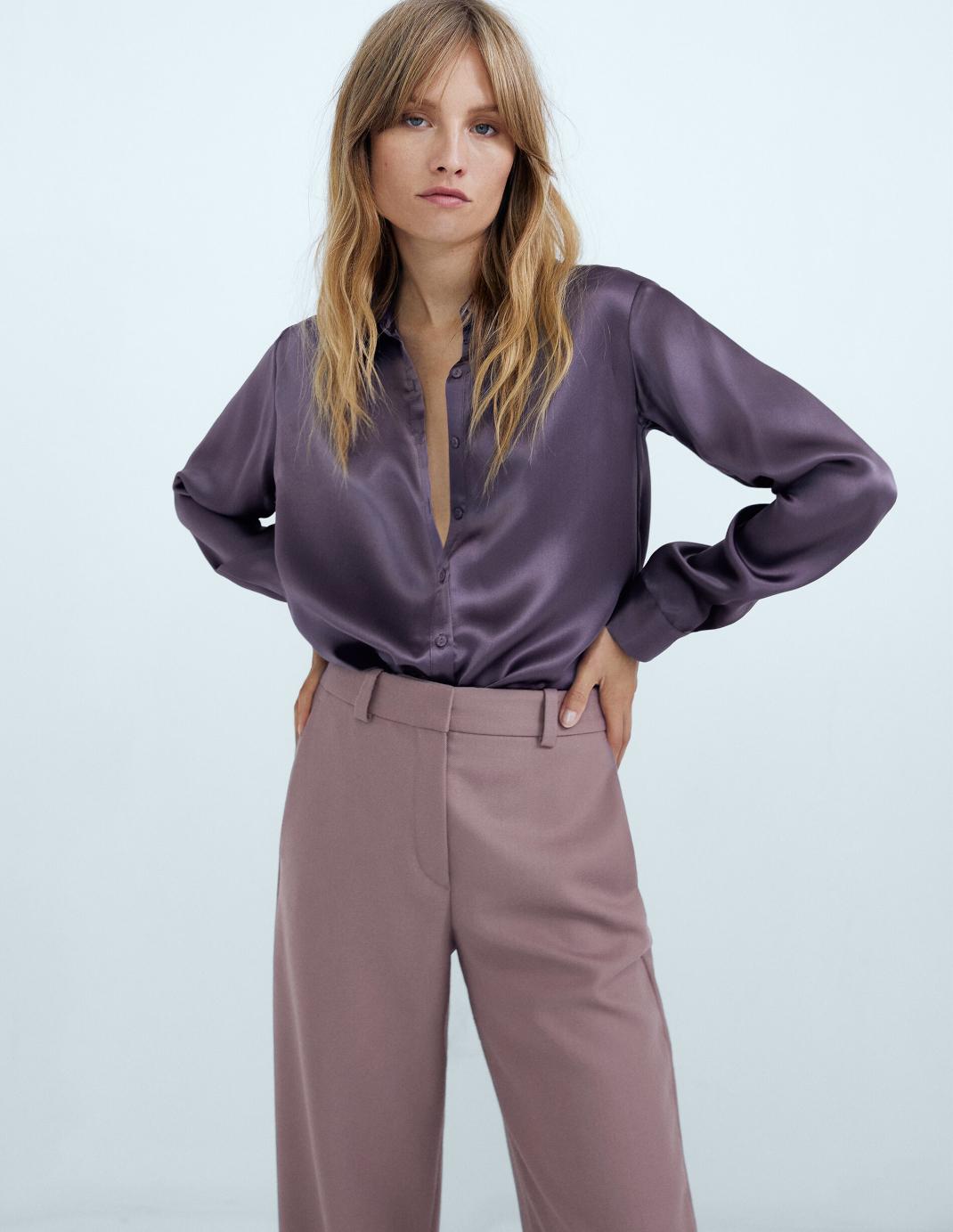λιλά παντελόνι από τα Massimo Dutti