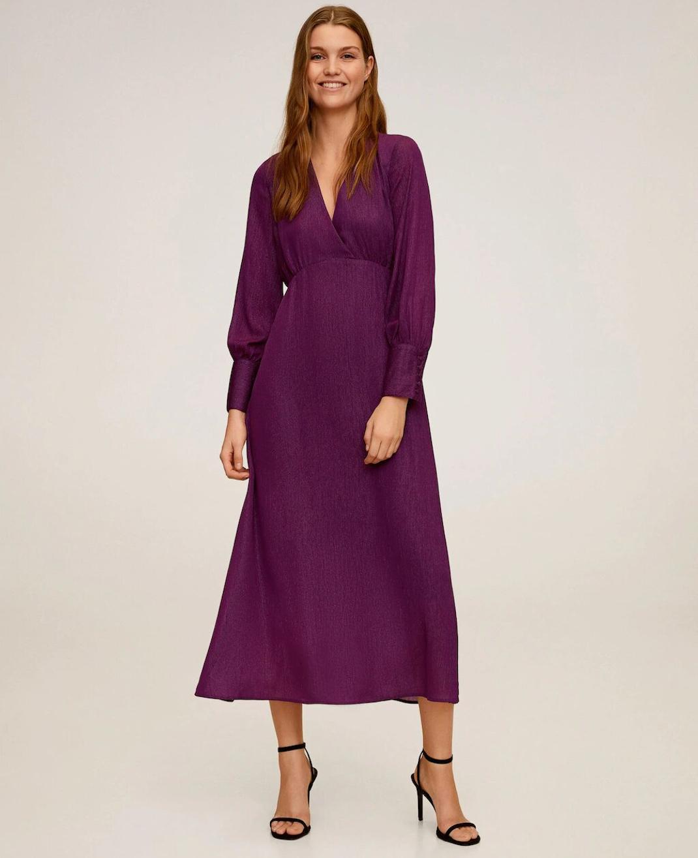 μωβ φόρεμα