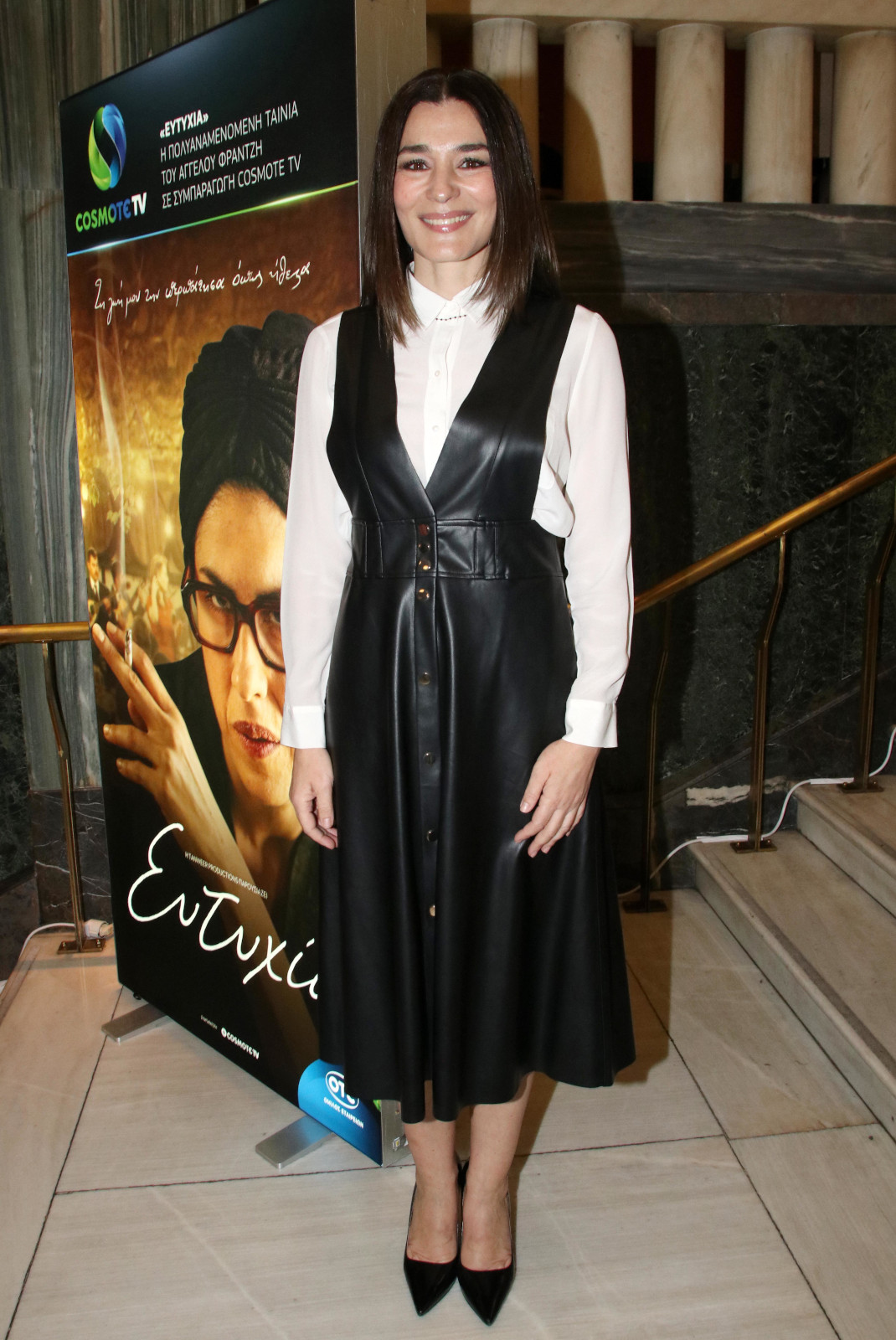 Η Μαρία Ναυπλιώτου με ZARA φόρεμα
