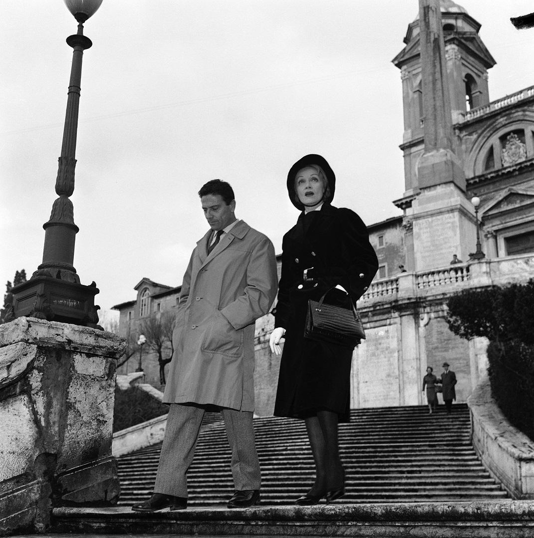 Η Μάρλεν Ντίτριχ με τον Ιταλό ηθοποιό Raf Vallone το 1960