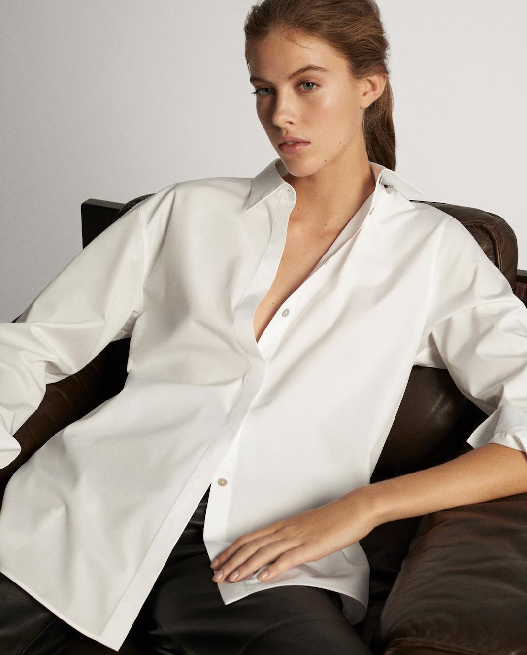 μοντέλο με πουκάμισο Massimo Dutti