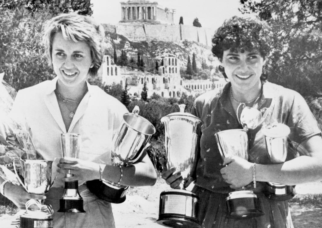 Μισέλ Μουτόν και Φαμπρίτσια Πονς στο Ράλι Ακρόπολις το 1982