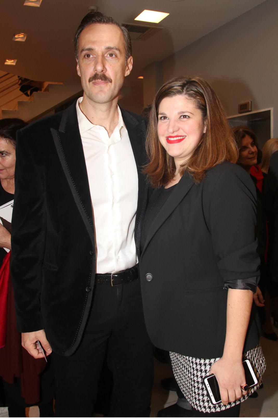 Χρήστος Πλαΐνης με τη σύζυγό του