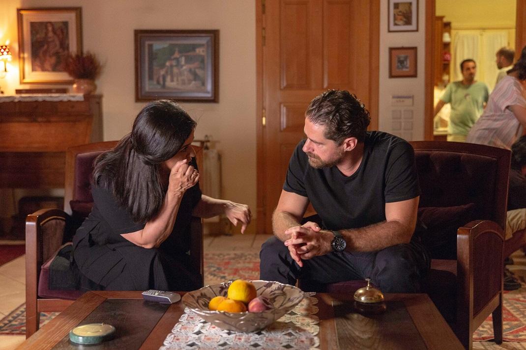 Ο Δημήτρης Λάλος με τη Μαρία Τζομπανάκη στον «Σασμό»