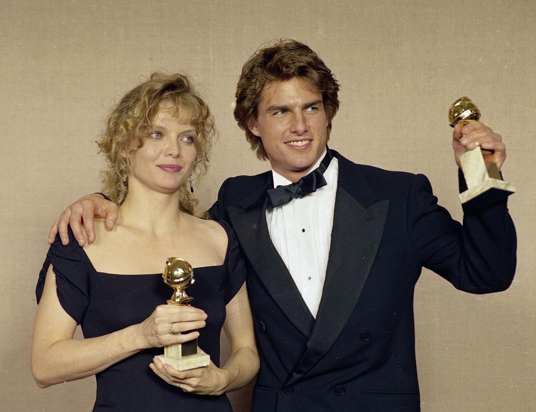 Ο Τομ Κρουζ κερδίζει τη Χρυσή Σφαίρα Α' Γυναικείου Ρόλου το 1990