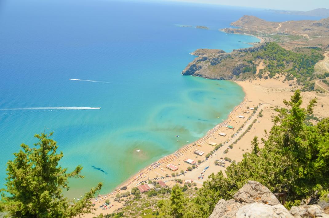 παραλία Τσαμπίκα- Ρόδος
