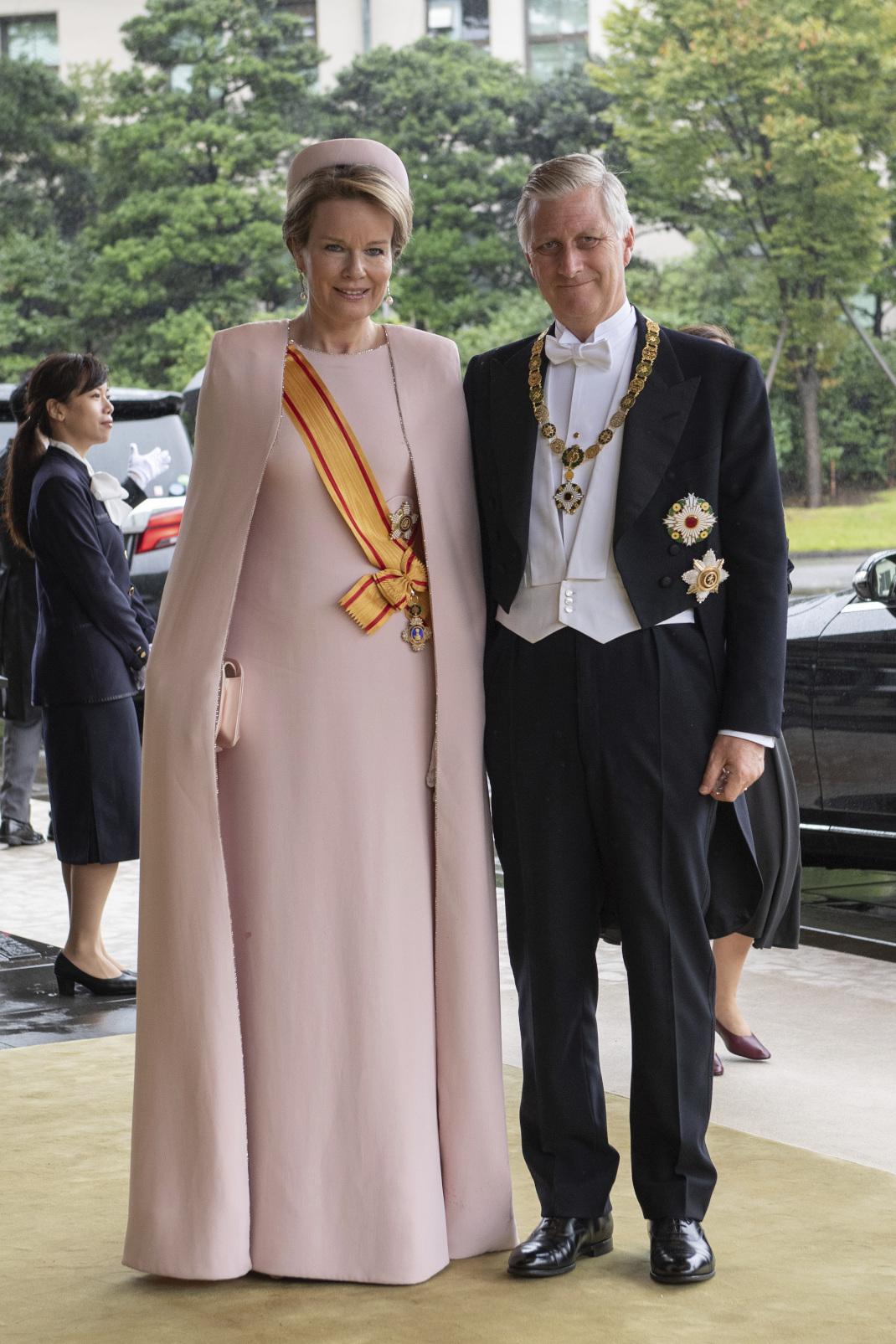 Η βασίλισσα Ματθίλδη του Βελγίου πάει στην ενθρόνιση του Ναρουχίτο