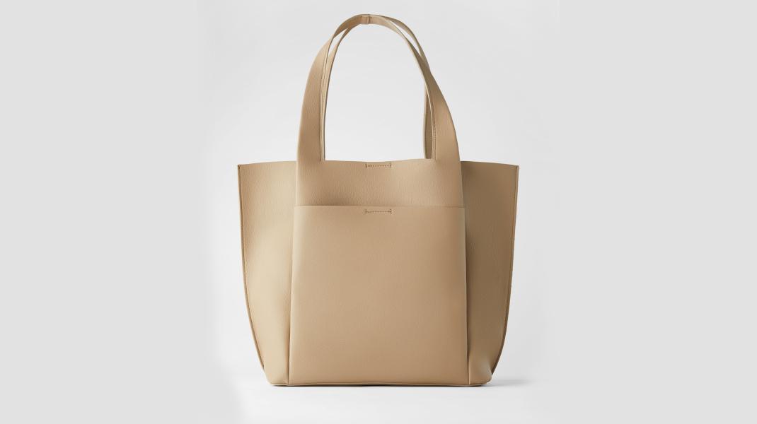 μπεζ τσάντα Zara