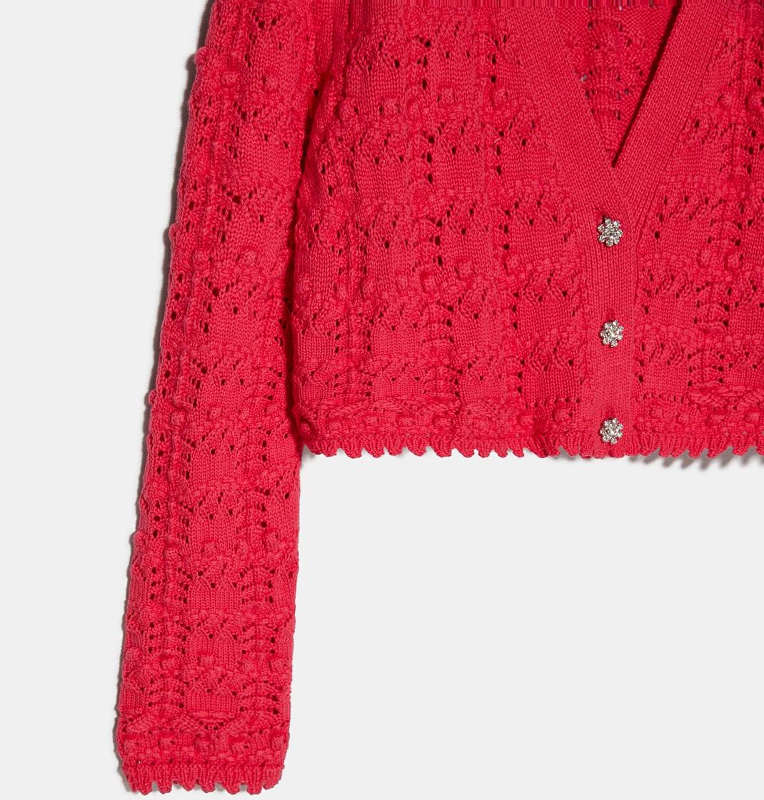 Zara κόκκινο πλεκτό σετ