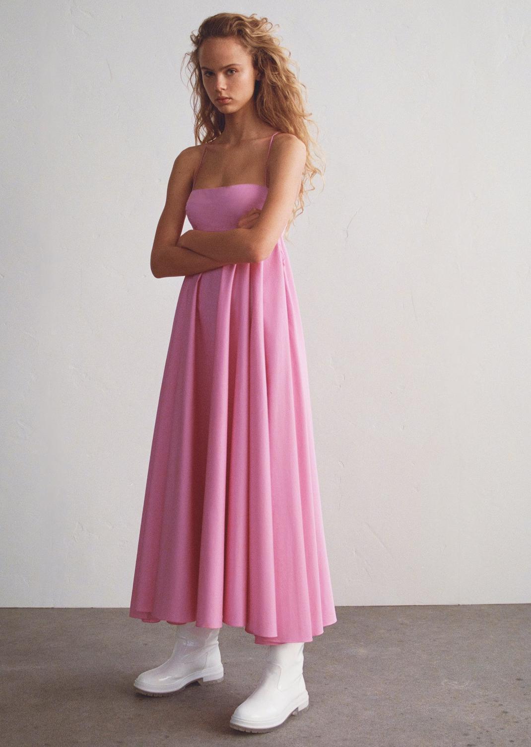 ροζ φόρεμα Zara