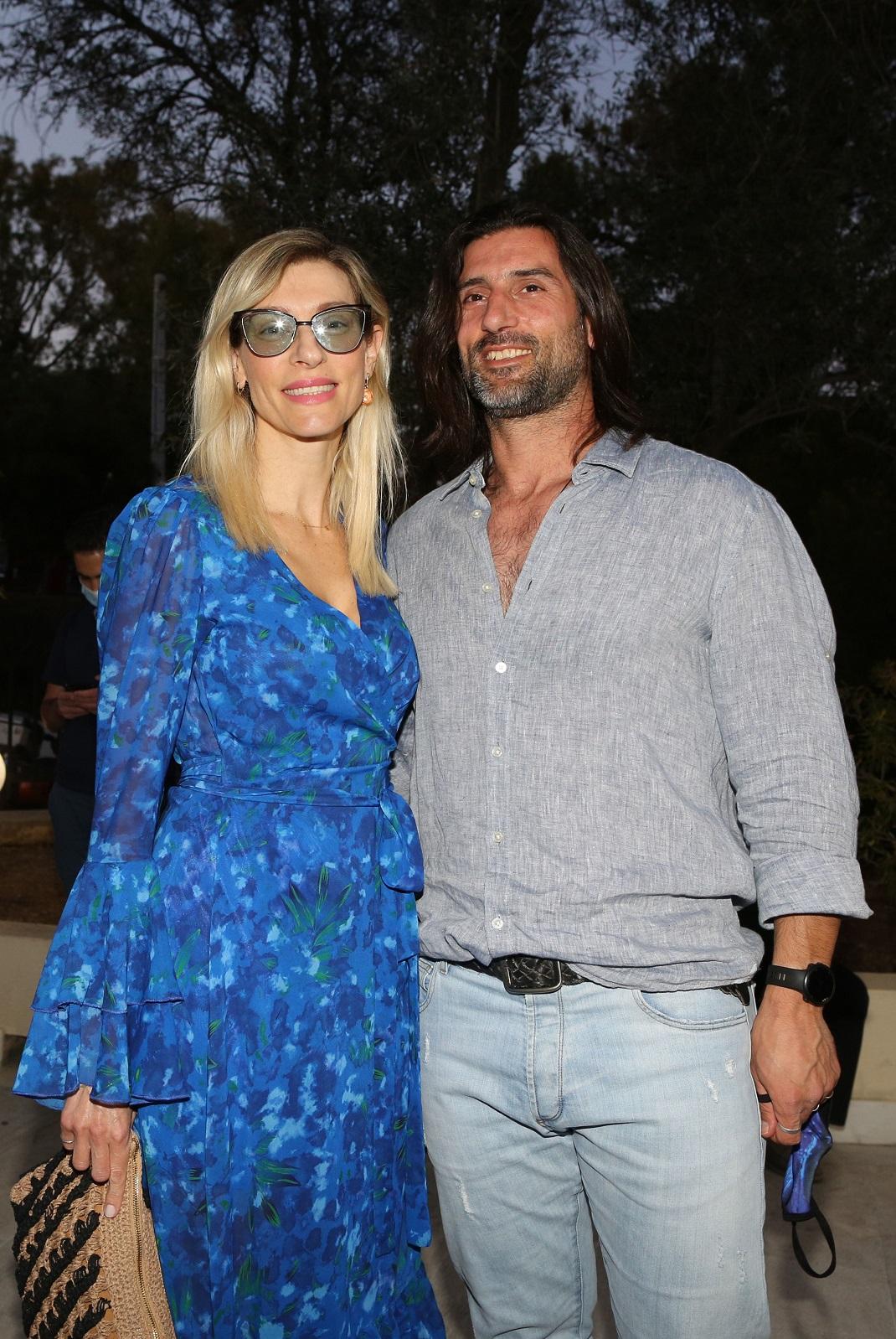 Η Ζέτα Δούκα με τον σύζυγό της, Μιχάλη Χατζαντωνά