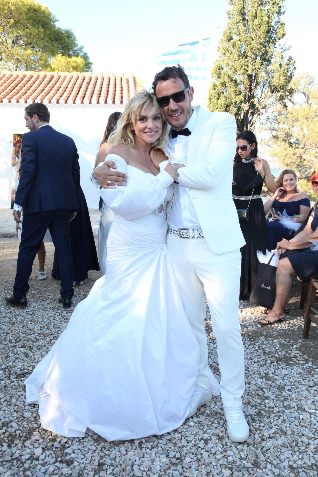 Η Ελεωνόρα Ζουγανέλη με τον σύζυγο της Σπύρο Δημητρίου