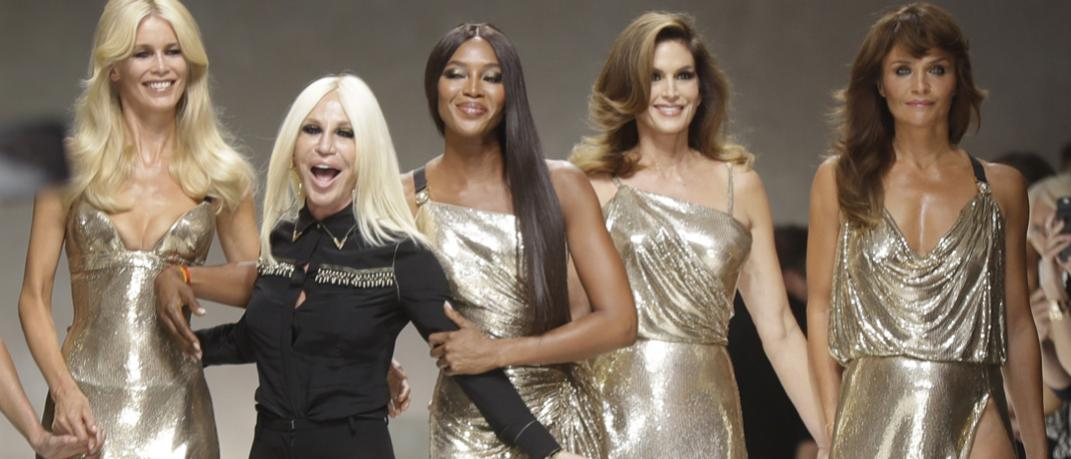 Claudia Shiffer, Donatella Versace, Naomi Campbell, Cindy Crawford and Helena Christensen, Φωτογραφία: ΑP Images