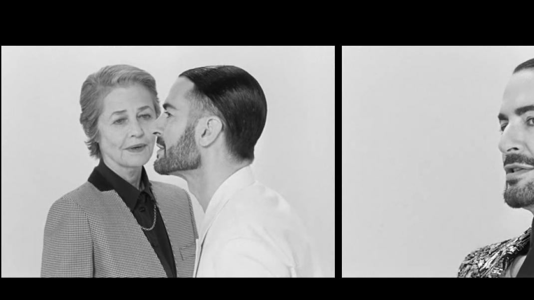 Marc Jacobs και Charlotte Rampling στην καμπάνια του Givenchy