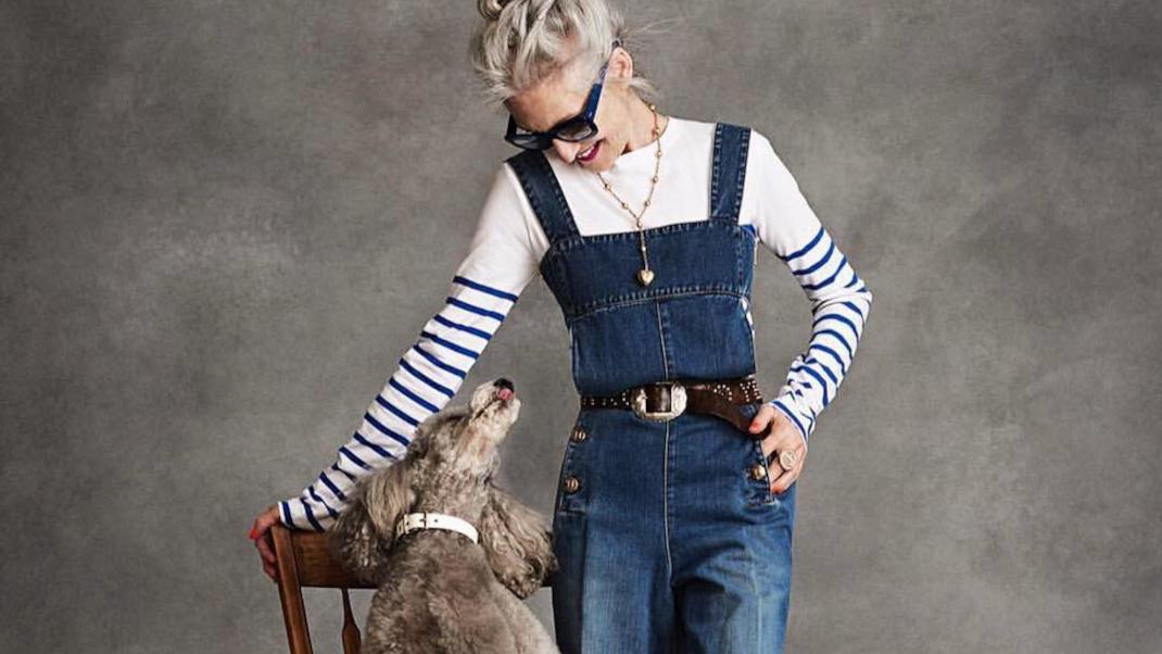 Linda Rodin and her dog Winks