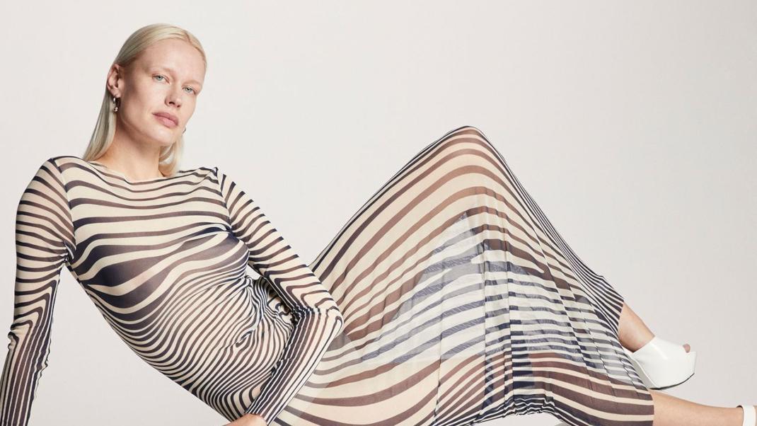 woman stripes Jean Paul Gaultier