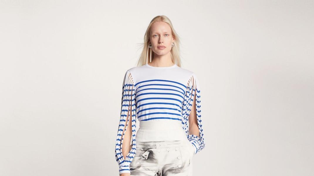 Jean Paul Gaultier stripes new collection 2021